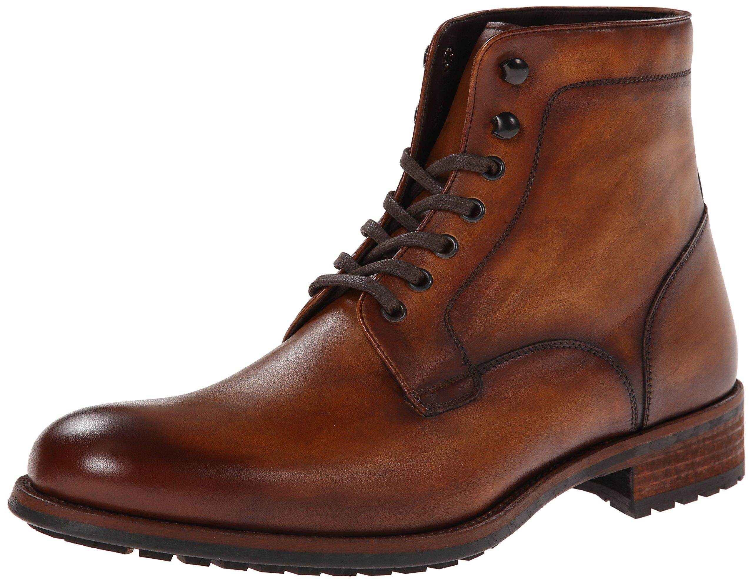 Magnanni Men's Marcelo Engineer Boot,Cognac,12 M US | Moda
