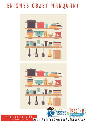 Enigmes pour enfant retrouvez l 39 objets manquant kit - Idee d enigme pour chasse au tresor ...