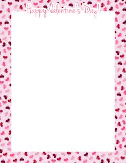 Happy Valentine S Day Border Borders Frames Pinterest
