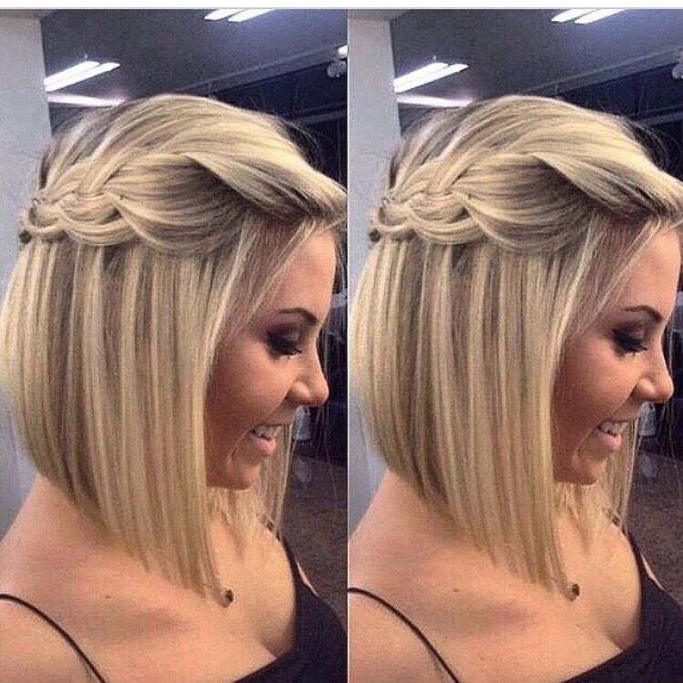Maid Of Honor Wedding Hair Simple But Cute Hair Styles Short Hair Styles Braids For Short Hair