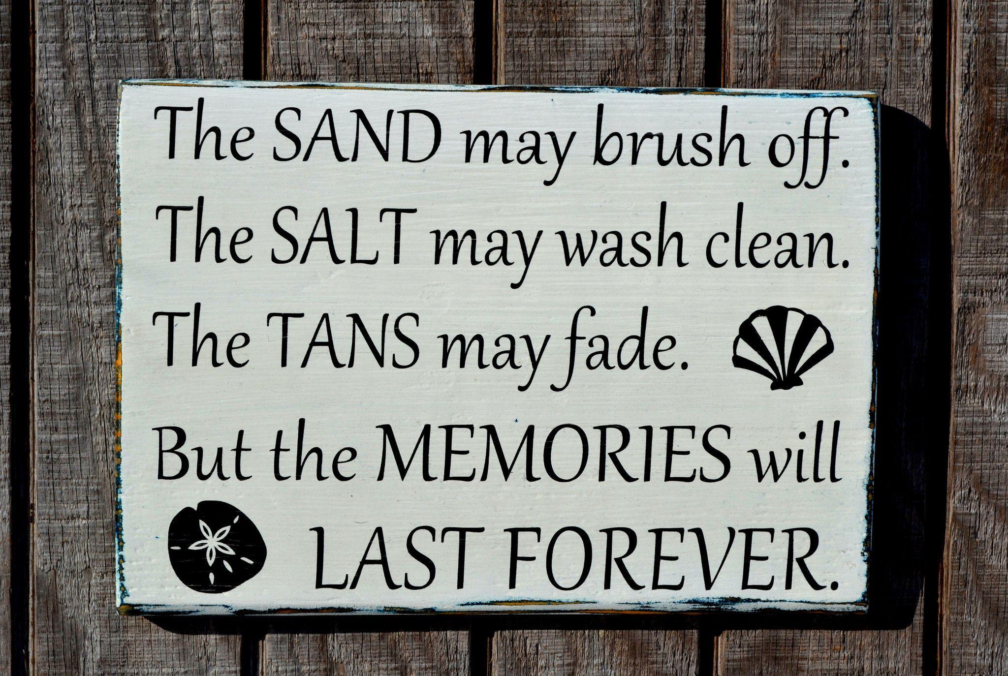 Salt May Brush Off, Tans May Fade - Beach Decor - Beach Signs - Beach Wall Decor - Coastal Decor - Painted, Wood - Beach House