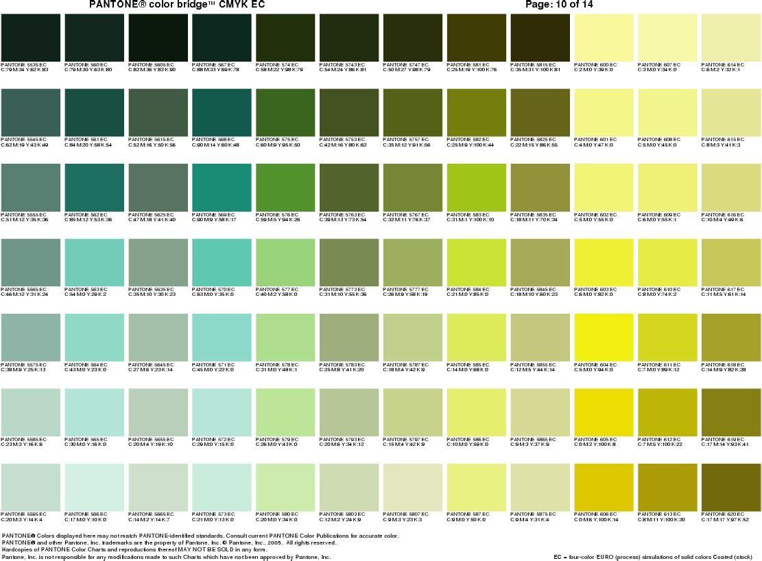 Pantone(r) Color Bridge(Tm) Cmyk Ec | { typography } | Pinterest ...
