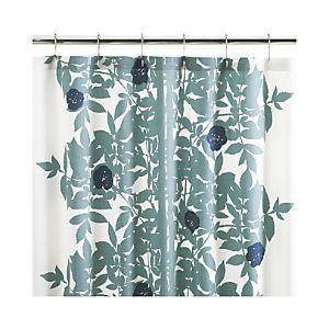 Marimekko Ruusupuu Shower Curtain   Crate And Barrel $59.95