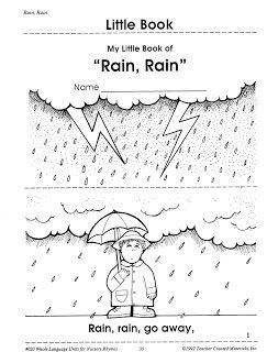 42+ Rain rain go away coloring page download HD