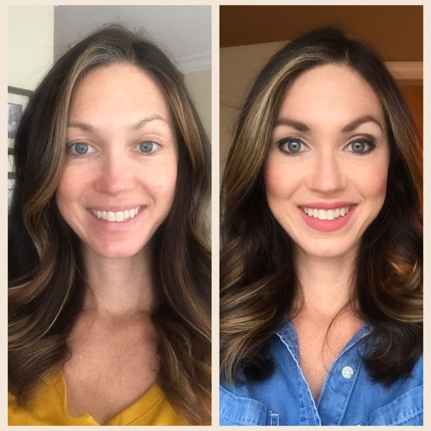 LimeLight by Alcone Botanical Foundation before and after