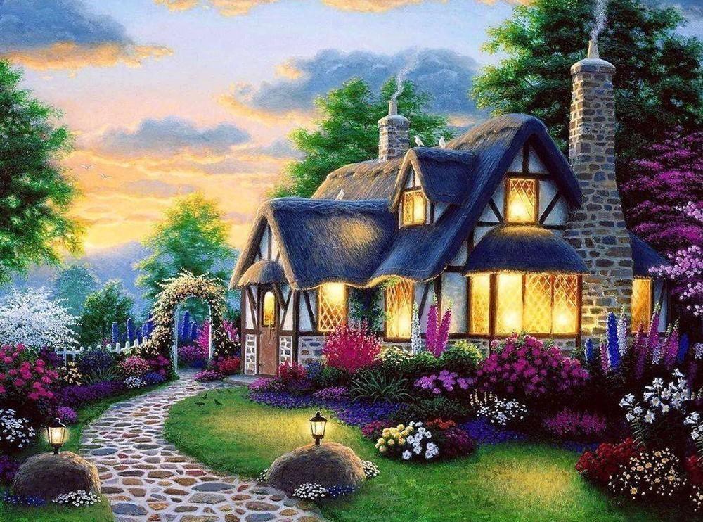 Fairytale House   5D Diamond Painting Kits   Pretty Neat ...