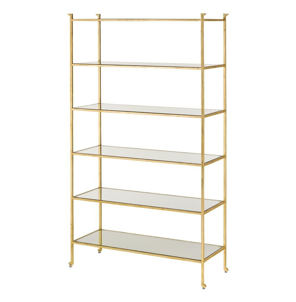 park gold metal hooker zm highland traditional furniture bookcase bunching product etagere