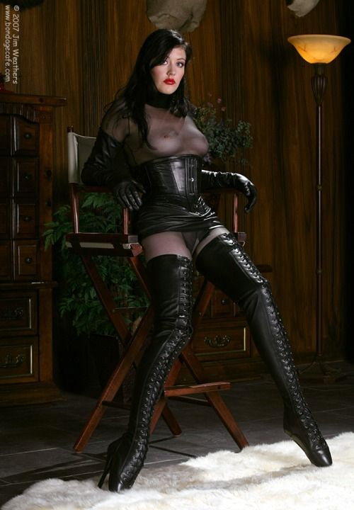Cheesecake Shot Of Mary Jane In Ballet Boots And Corset By