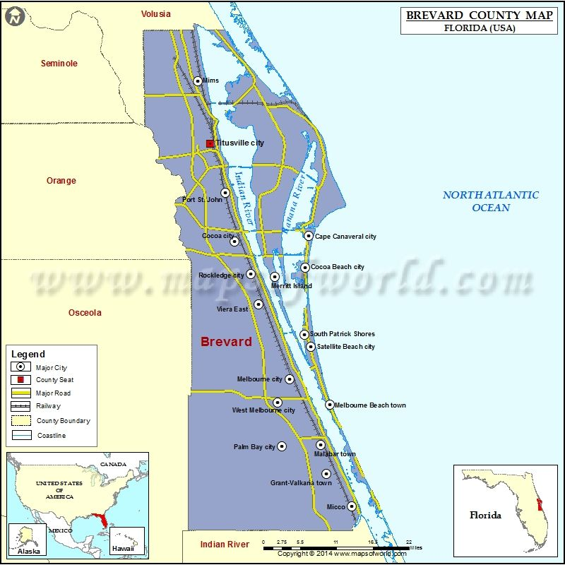Brevard County Map Maps Pinterest Brevard county florida