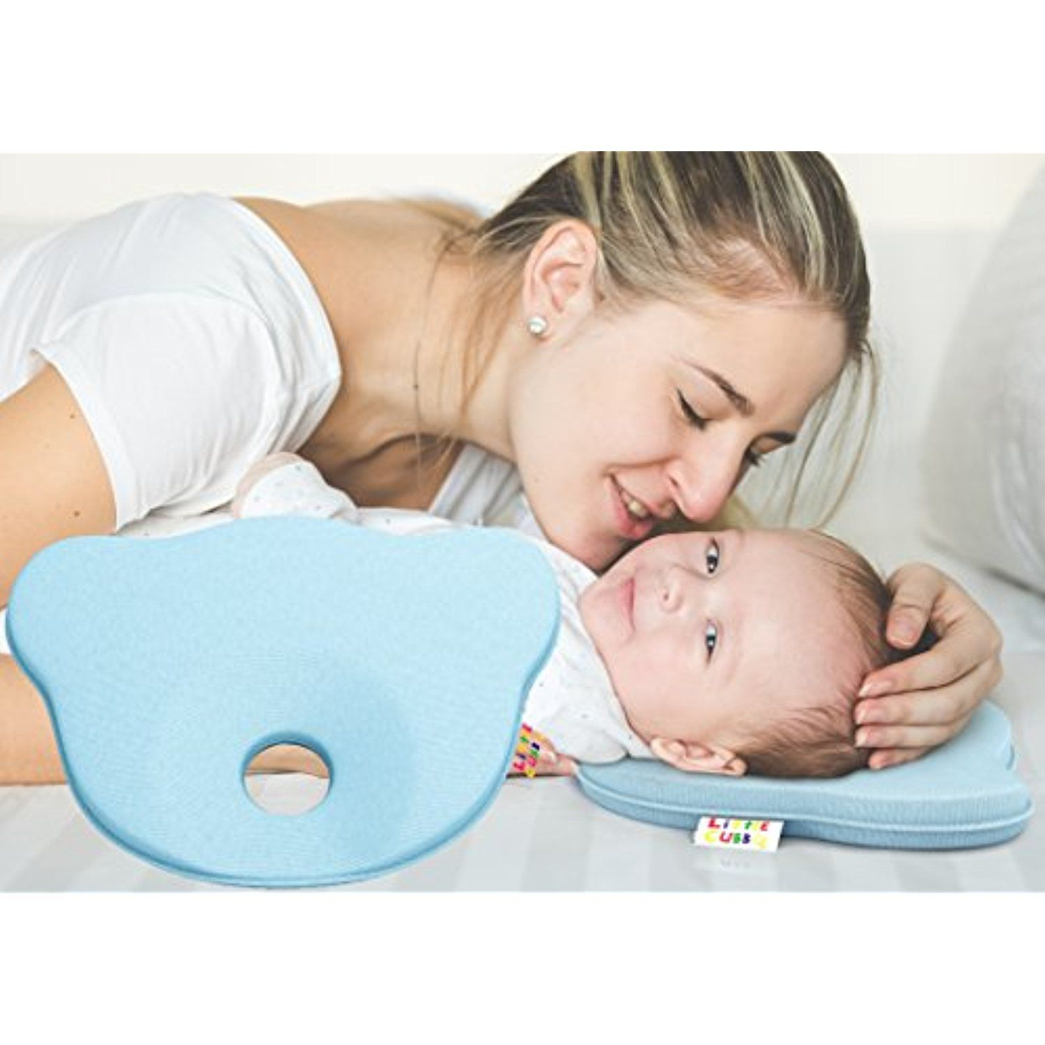Baby pillow for flat head syndrome 100 organic cotton