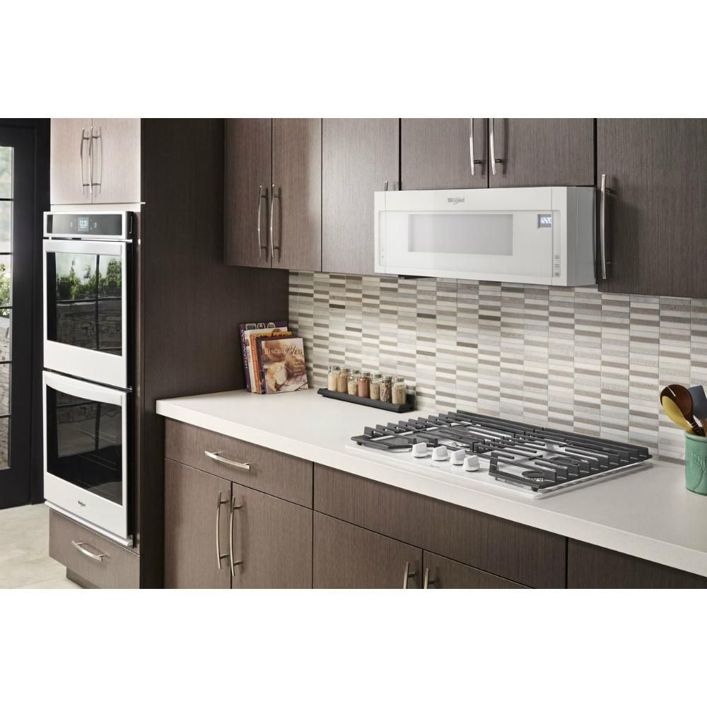 Whirlpool 1 1 Cu Ft Over The Range Low Profile Microwave Hood Combination In White Wml75011hw The Home Depo In 2020 Gas Cooktop Electric Cooktop Cool Things To Buy