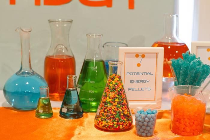Science party ideas planning idea supplies atoms molecules for Home party tube