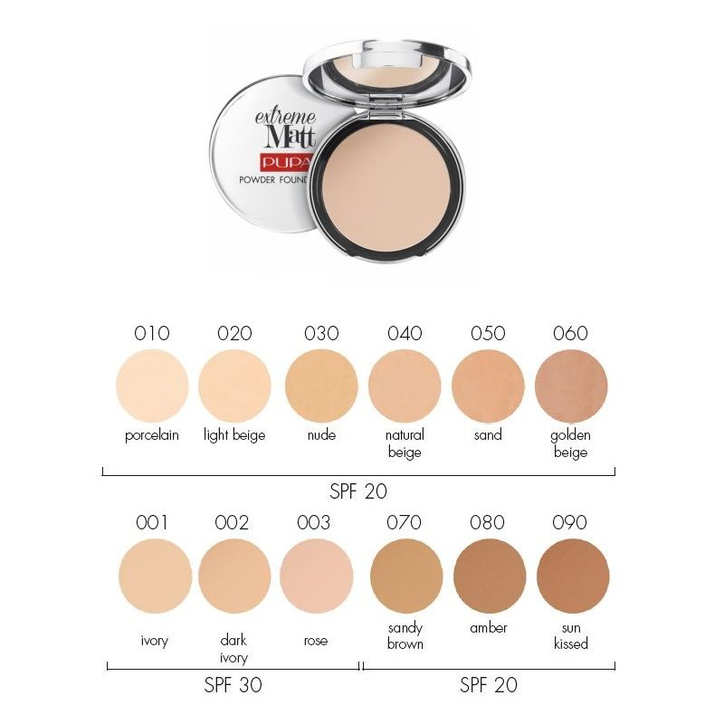cad89db8fb2 Pupa Extreme Matt Powder Foundation - Webshop Beauty Time | make-up