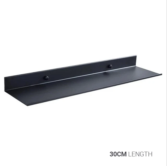 Photo of Space Black aluminum bathroom shelf Shower shelf Modern kitchen shelf Black bathroom accessories Available in 4 sizes