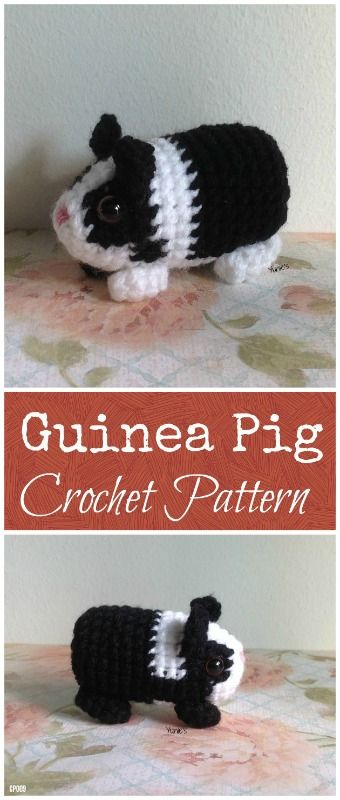Crochet Guinea Pig Amigurumi Pattern, Animal Pattern, crochet ...
