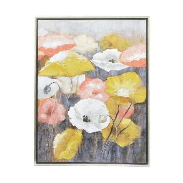 Three Hands 23141 29-1/2 Inch x 39-1/4 Inch Framed Poppies Canvas ...