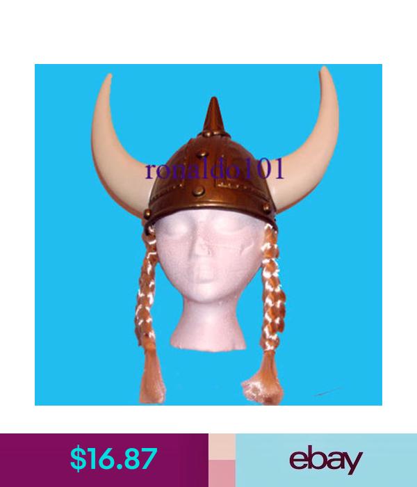 Lady Viking Costume Helmet Hair New Plastic Nordic Gold Hat With Braids Horns Viking Costume Gold Hats Helmet Hair