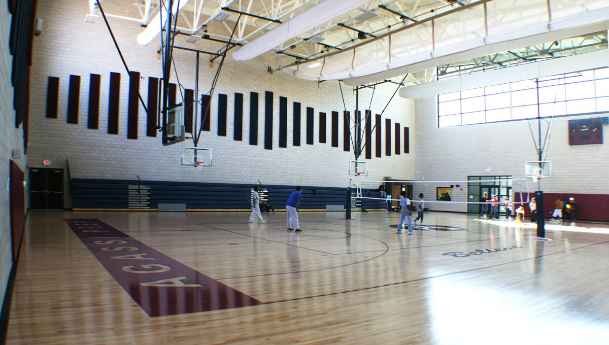 Agassi Prep HS Gym Interior Gym interior, School