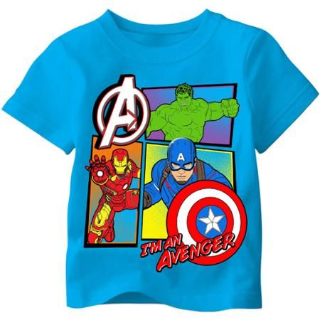 Marvel Avengers Toddler Boy Super Hero Graphic Tee Shirt