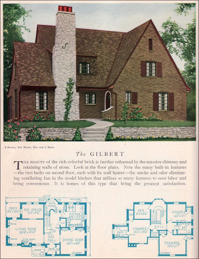 1929 Home Builders Catalog Gilbert House Plan American