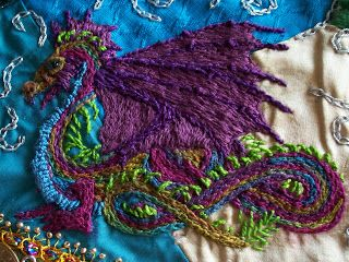 I ❤ embroidery & crazy quilting . . . These are some dragons I ... : crazy quilt dragon - Adamdwight.com