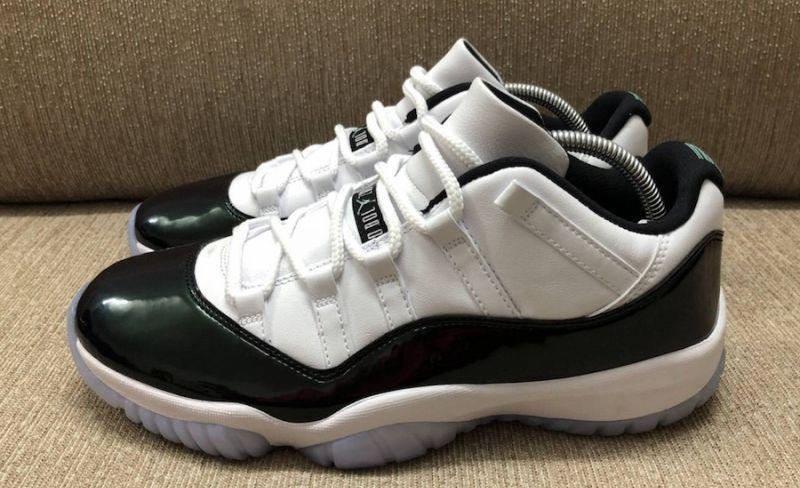 a67505873de Air Jordan 11 Low Emerald | Nike free | Air jordans, Air jordan 11 ...
