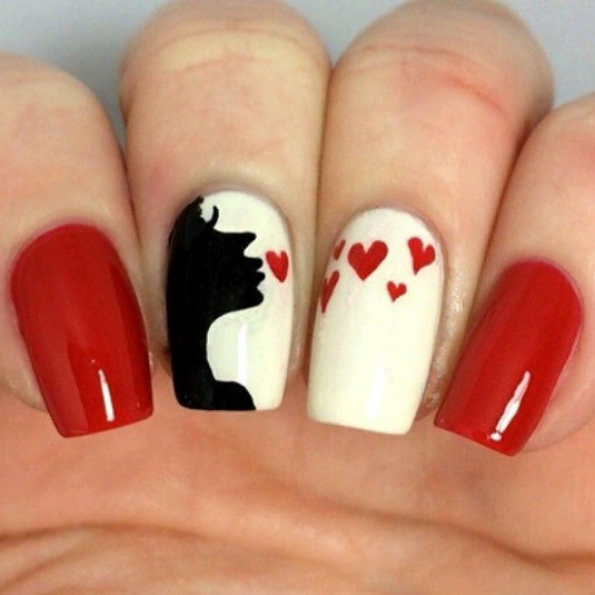 Beautiful kisses design | Nail art | Pinterest | Manicure, Nail nail ...