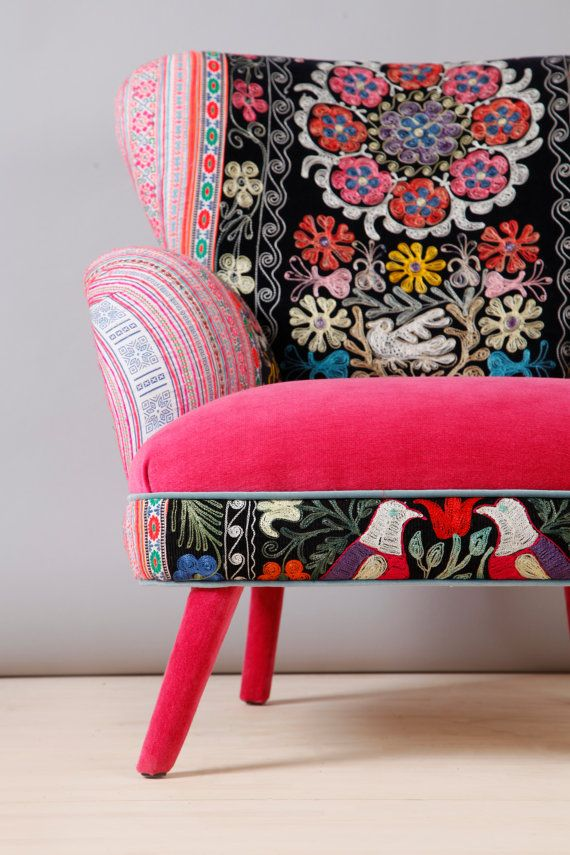 Suzani Armchair Pink Candy