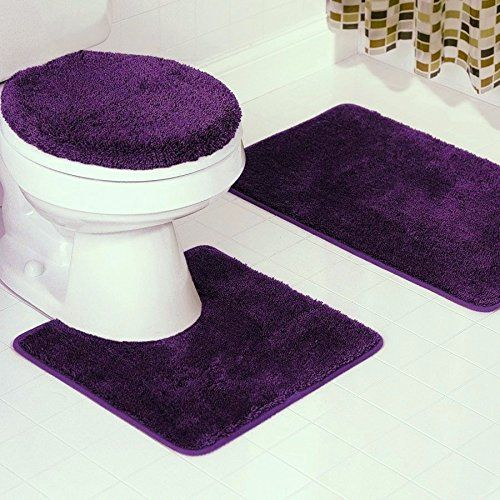 Bs6 3 Piece Solid Bathroom Rug Set Includes Contour Mahttps Magnificent 3 Piece Bathroom Rug Sets Decorating Inspiration