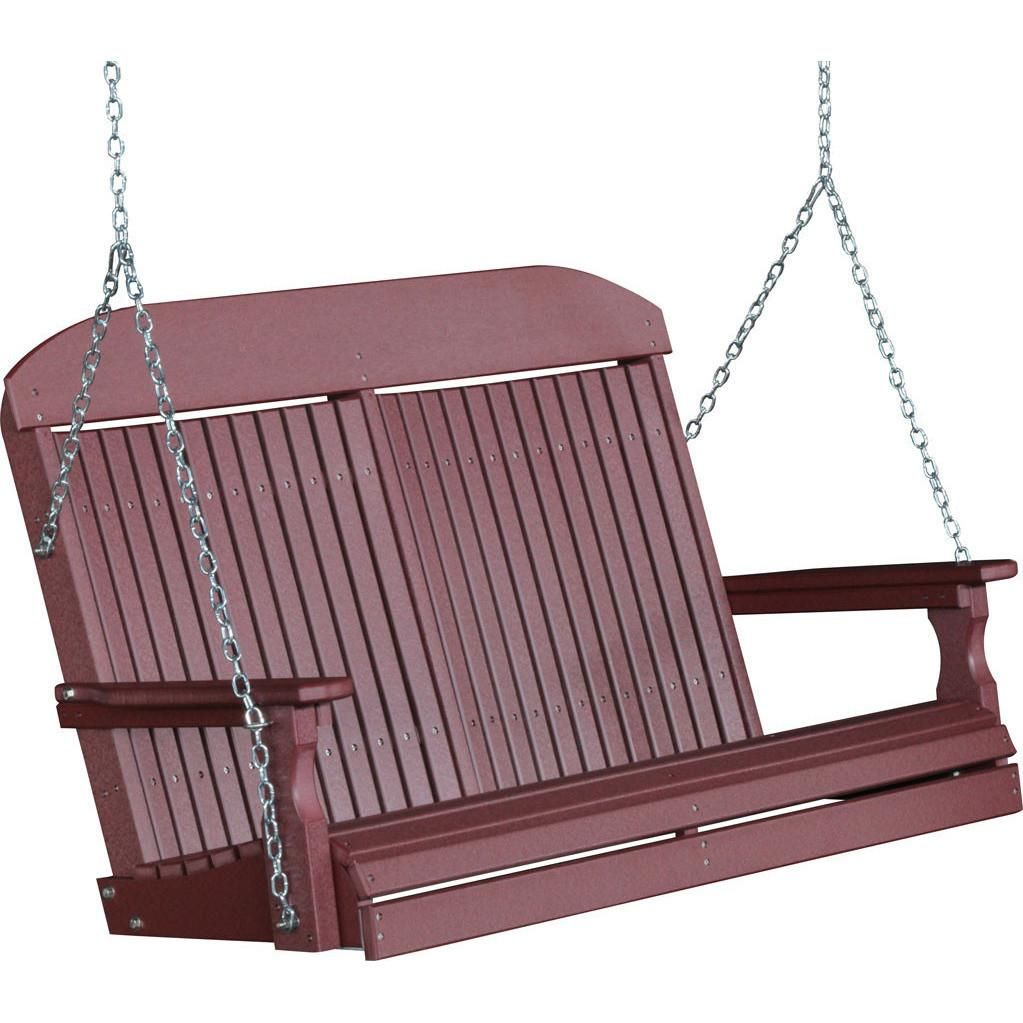 Luxcraft Classic Highback 4ft Recycled Plastic Porch Swing