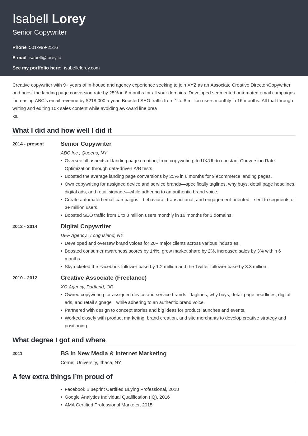 Copywriter Resume Example Template Influx Resume Examples Copywriting Job Resume Examples