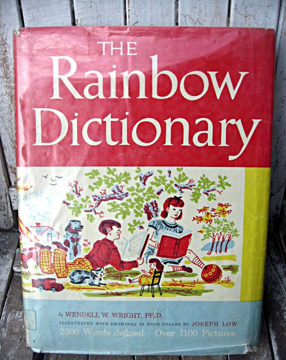 Vintage childrens picture dictionary from by ...