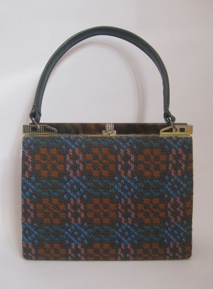 Vintage 60s Welsh Tapestry Handbag From Virtual Clothing