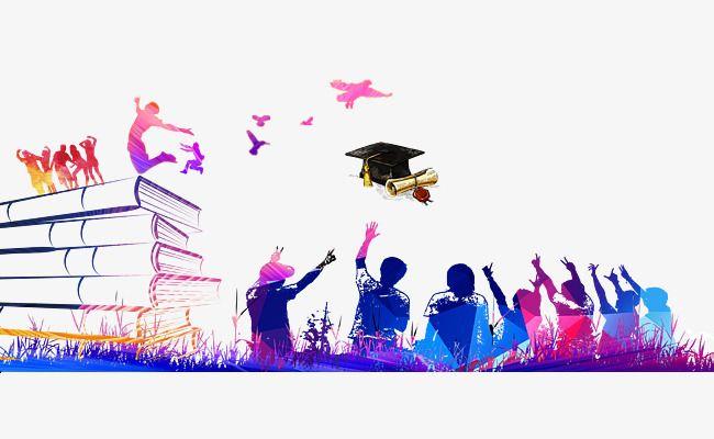 Book Bachelor Hat Youth Back Graduation Element Background ...