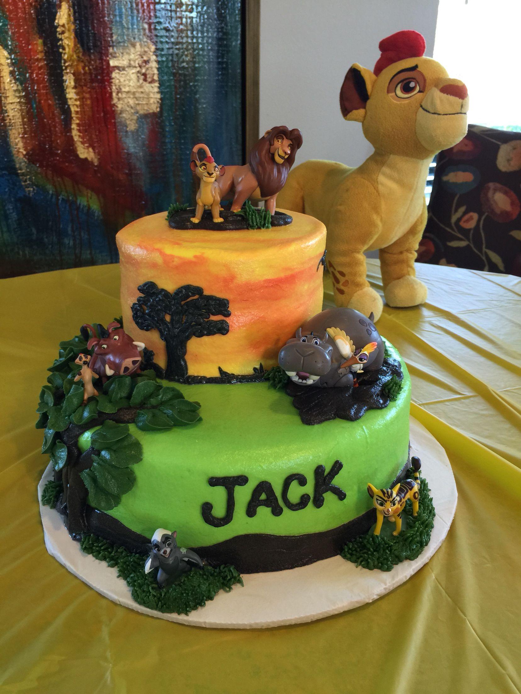 Lion Guard birthday cake Amelias 4th birthday party Pinterest