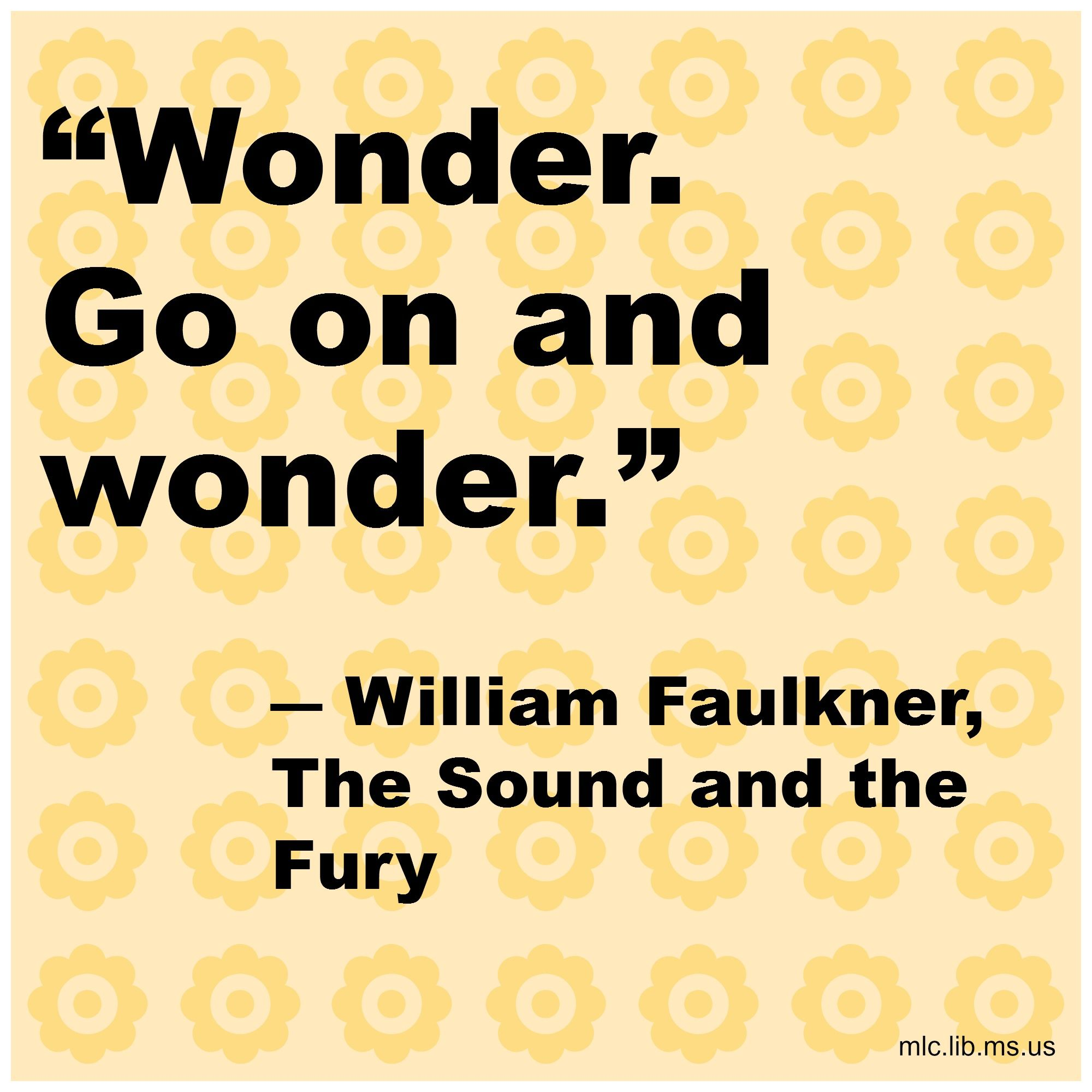 an analysis of the american south in the sound and the fury by william faulkner View william faulkner  american south  the narratological analysis of sadeq hedayat's the blind owl and william faulkner's the sound and the fury on the.