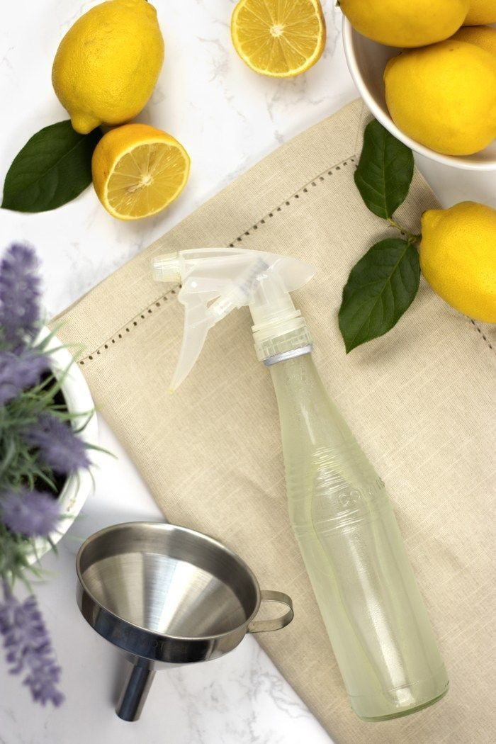 DIY Lavender Lemon Glass Cleaner without Rubbing Alcohol