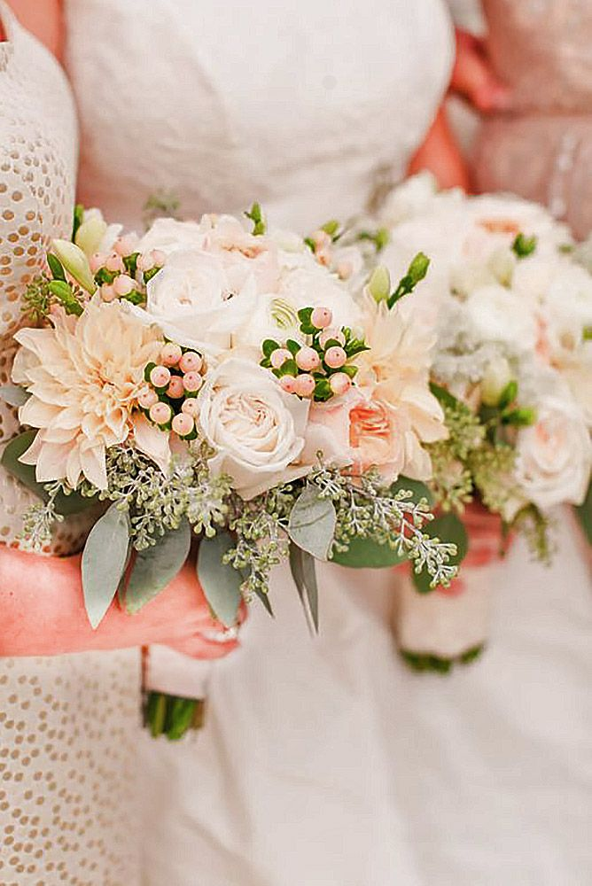 36 Glamorous Blush Wedding Bouquets That Inspire