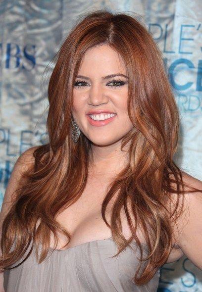 Khloe Kardashians new, red-hot hairstyle