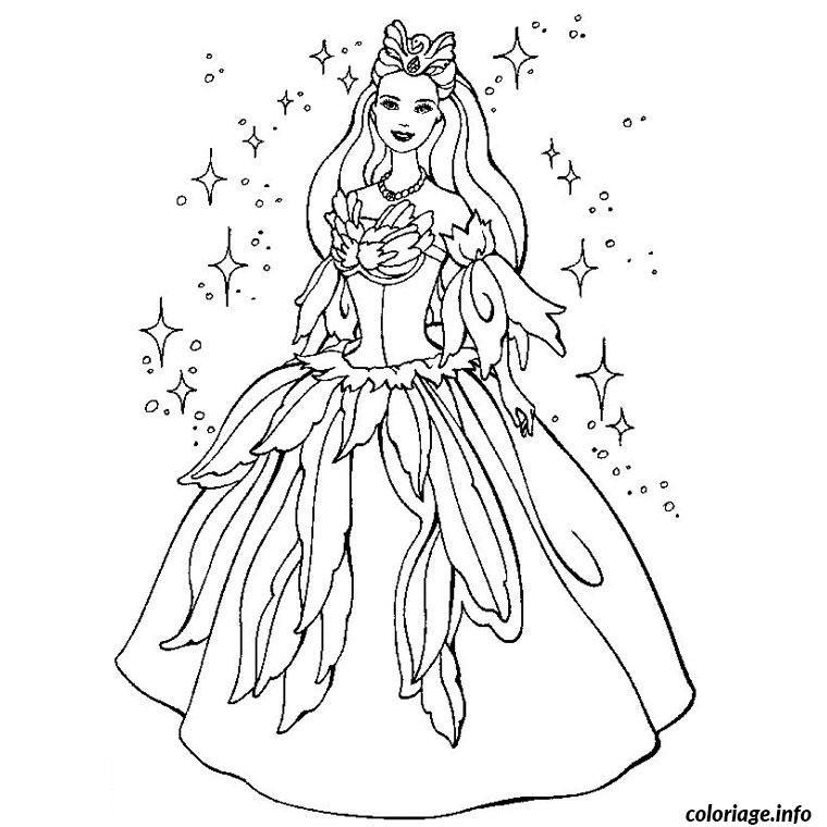 Coloriage Barbie Princesse