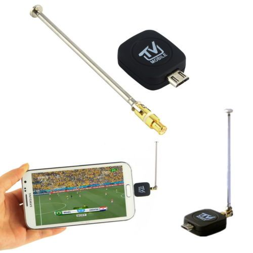 1 Pc Mini Micro Usb Dvb T Digital Mobile Tv Tuner Receiver For Android 4 1 5 0 H Tv Tuner Digital Antenna Micro Usb