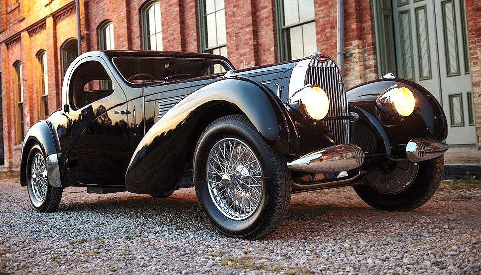 The 1938 Bugatti Type 57C Atalante was first shown at the Paris World's Fair | RM Sotheby's photos