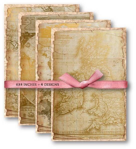 613-Digital Papers Vintage World Maps Digital Collage Sheet - Vintage Papers - Digital collage sheets, Vintage Clipart, Printables, Scrapbooking supplies