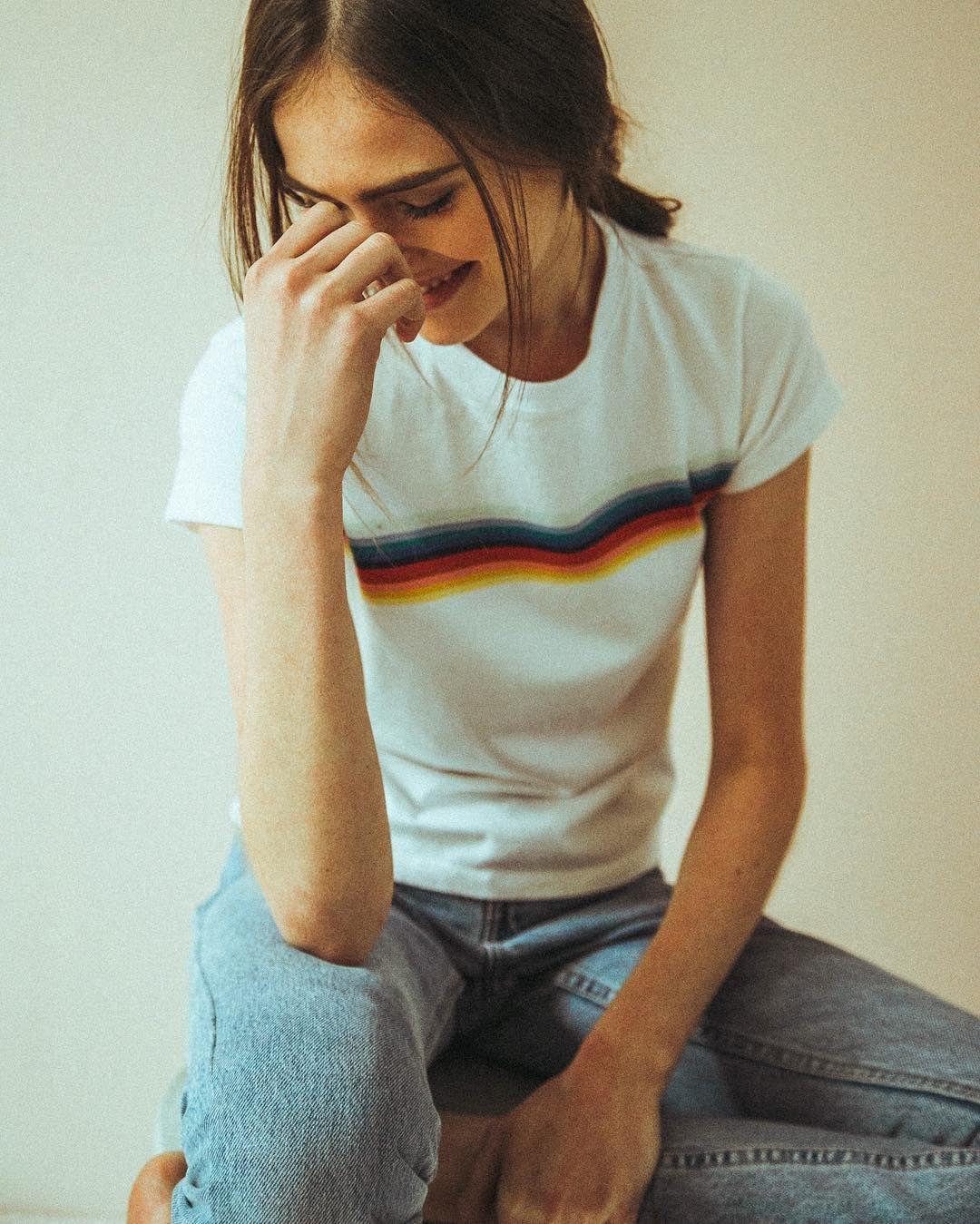 Brandy Melville Brandymelvilleusa Instagram Photos And Videos Brandy Melville Outfits Summer Rainbow Shirt Brandy Melville Outfits