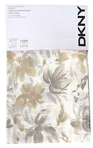 dkny garden splash floral road pocket curtains 100% cotton 2