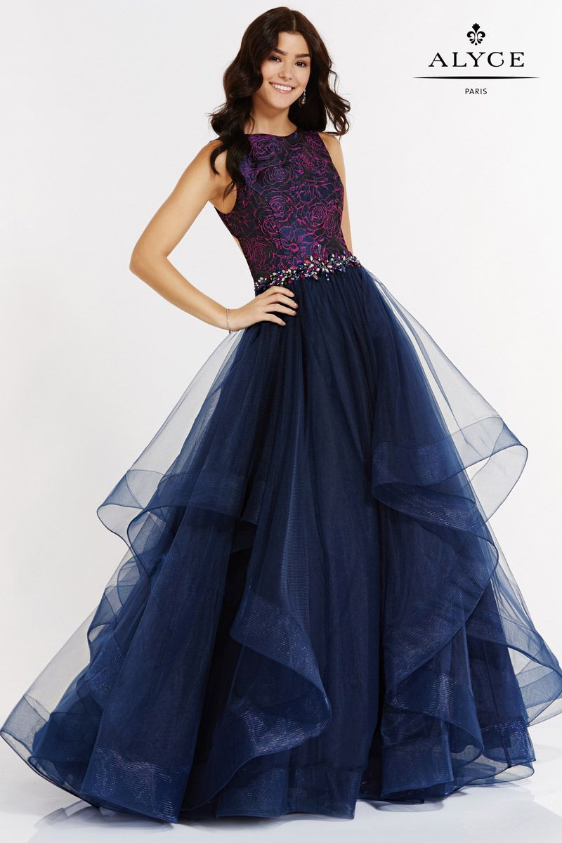 Alyce Paris 6768 Exquisite Ruffle Tulle Prom Dress | Kleider