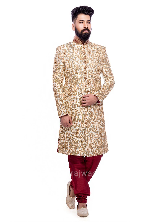 ae919b3ca1 Zardozi and Zari Work Sherwani #rajwadi #designer #exclusive #trendy # sherwani #wedding #collection #embroidered #2018Grooms