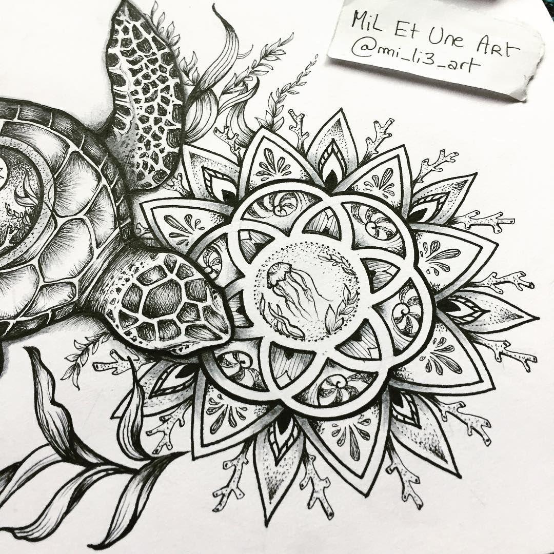 Close Up On The Mandala Of The Turtle Tattoo Commission I Worked On Miletune Modern Art Tattoos Hawaiian Tattoo Tribal Chest Tattoos