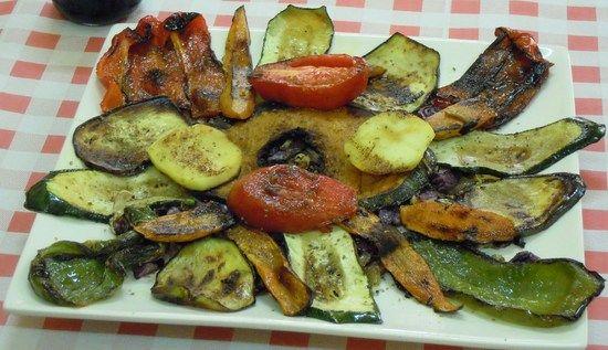 Restaurantes Las Terrazas.Parrillada de verduras