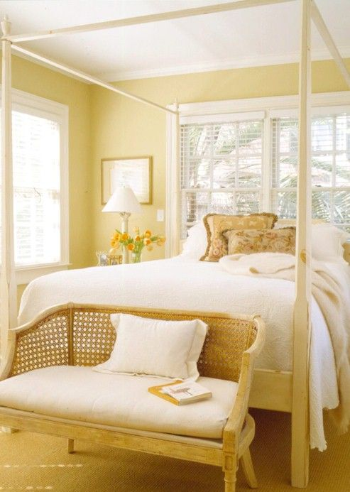 Yellow Bedrooms | Wall colours, Bedrooms and Yellow cottage